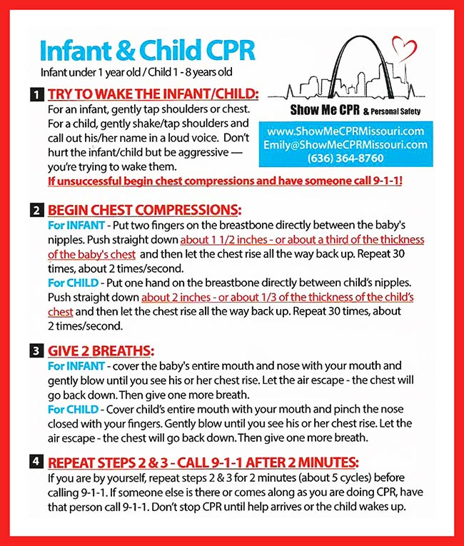 Infant and Child CPR