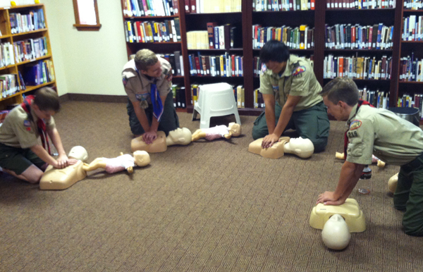 Boy Scouts Learning CPR