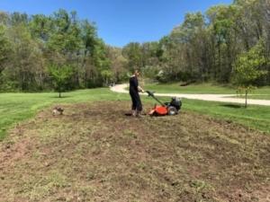 Emily gardening