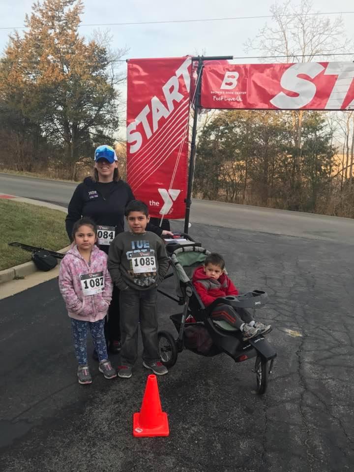 emily and family marathon